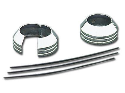Fork Boot Covers; FXST'84-99, FXDWG'91-05 & FXWG'80-86, 2-Piece, Chrome Finish