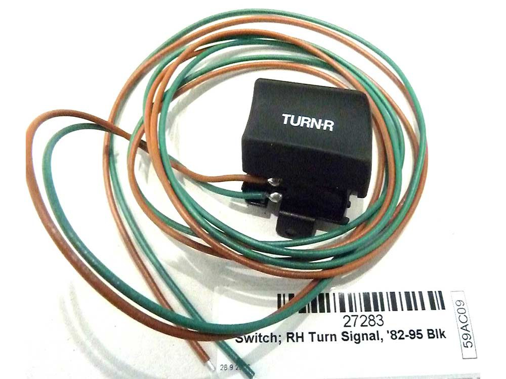 Switch; Turn Signal, Right, '82-95, Black Finish