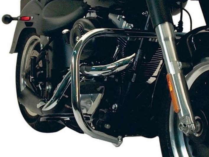 Engine Guard; Front, Softail'00-10, Chrome Finish