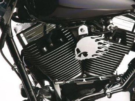 Horn; Flaming Skull, Most'91-13 Models with Vert Motor Mount. Includes Horn