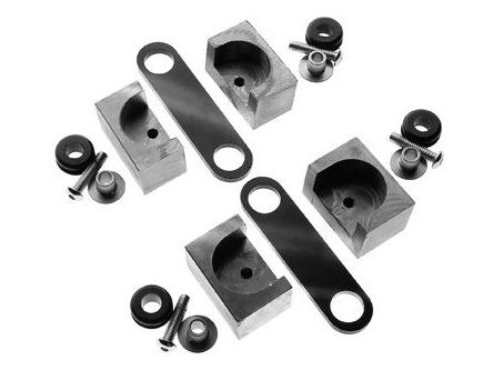 Custom Chrome Tank Mount Kit; Universal applications.  Includes Frame Straps & Rubbers with Matching Tank Weld On Machined Blocks.