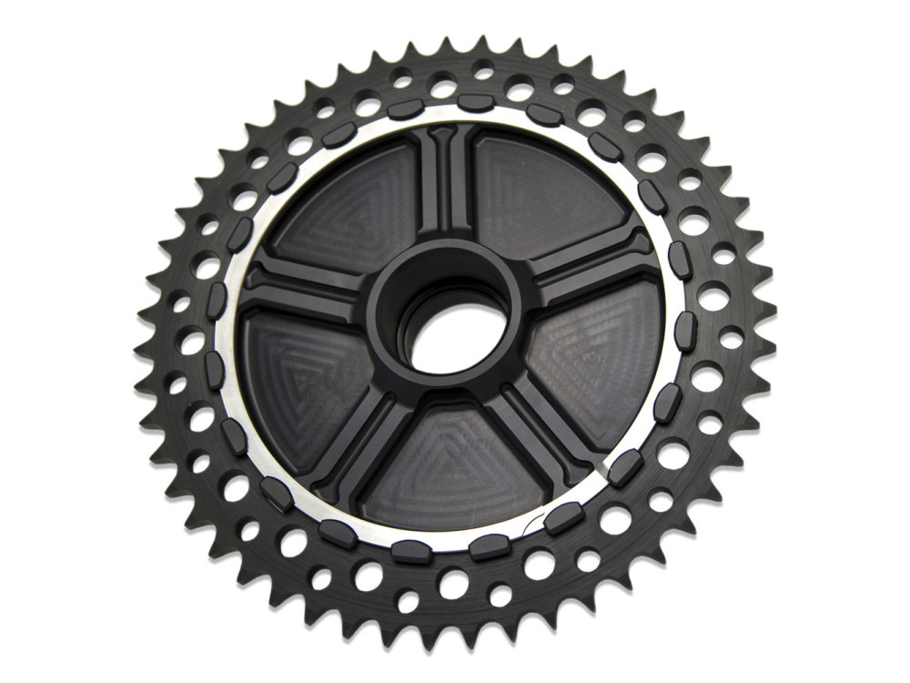 Cush Drive Chain Sprocket Kit. Touring Models 2009up. Black Cush Carrier with 51T Black Sprocket