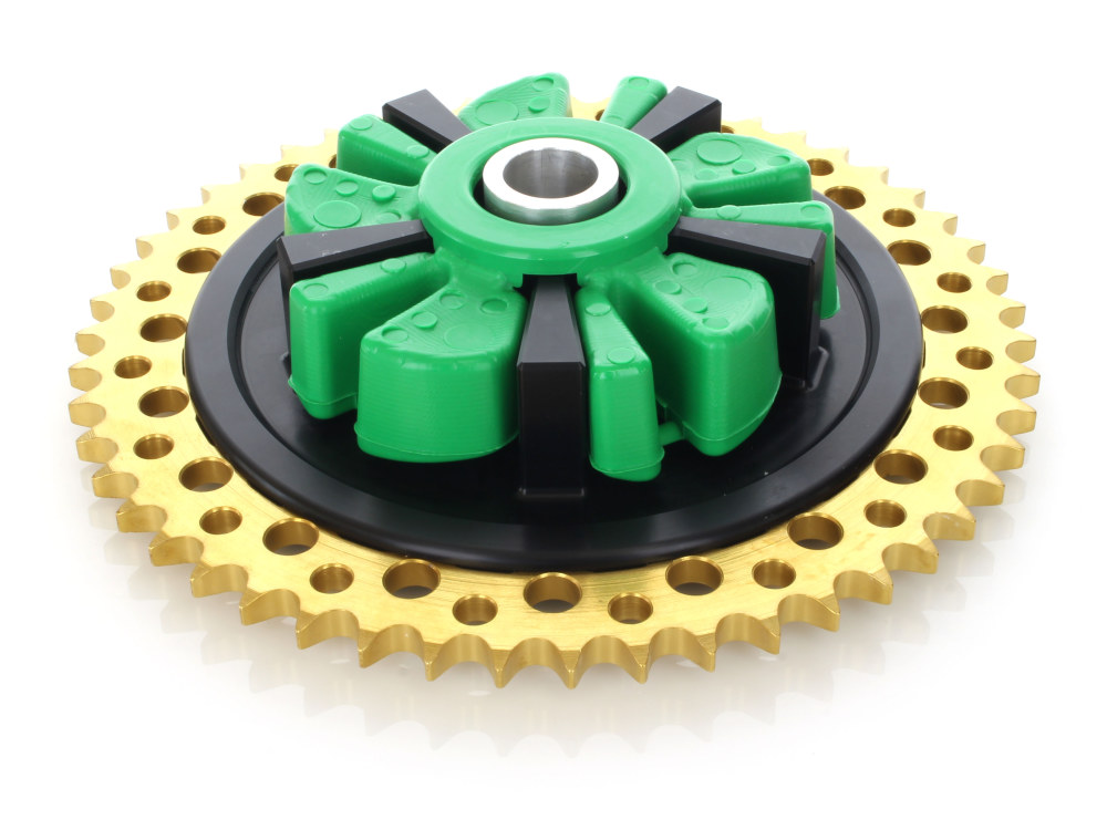 Cush Drive Chain Sprocket Kit. Touring Models 2009up. Black Cush Carrier with 51T Gold Sprocket