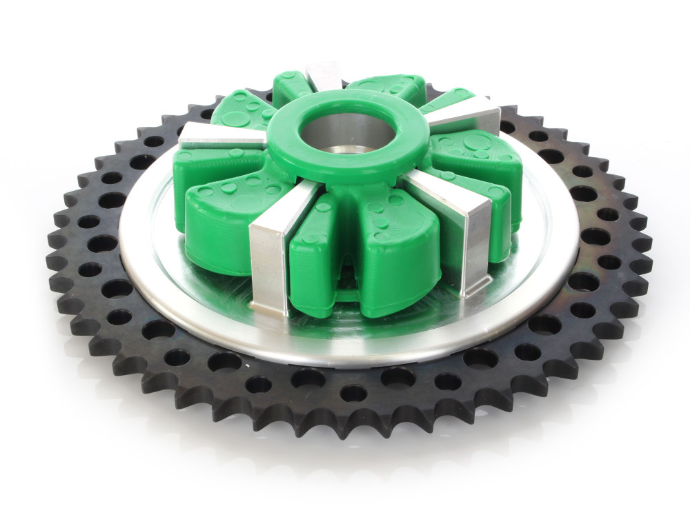 Cush Drive Chain Sprocket Kit. Touring Models 2009up. Machine Finish Cush Carrier with 51T Black Sprocket