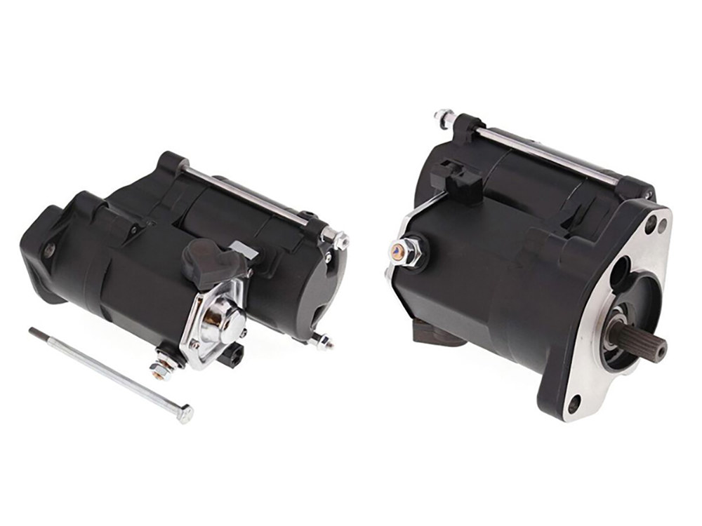 1.4kw Racing Starter Motor with Black Finish. Fits Big Twin 1989-2006.