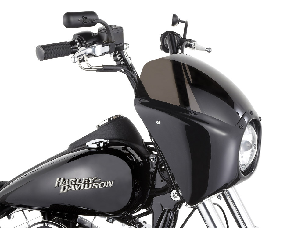 Direct Bolt-On Fairing Kit with Gloss Black Finish. Fits Dyna 2006up.