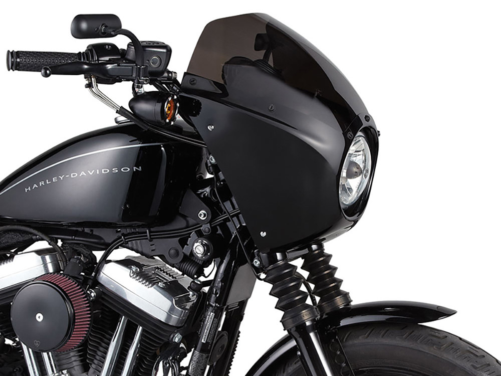 Direct Bolt-On Fairing Kit with Gloss Black Finish. Fits Sportster 2004up.
