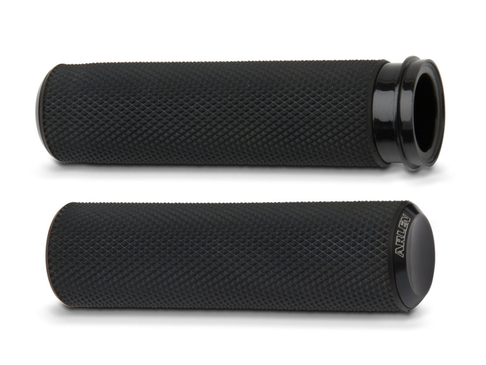 Handgrips; Knurled Fusion, TBW'08up Application, Black Finish (Pair)