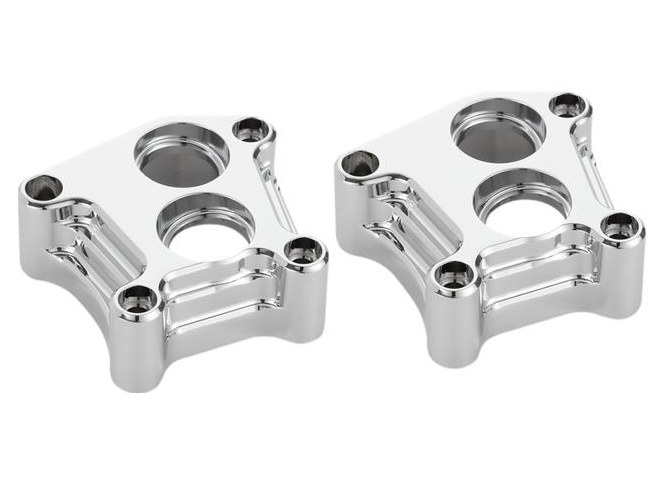 Tappet Block Covers; Big Twin'99up, 10-Gauge with Chrome Finish