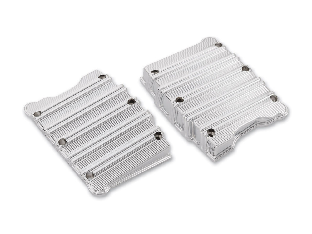 Rocker Covers; Big Twin'99up, 10-Gauge with Chrome Finish
