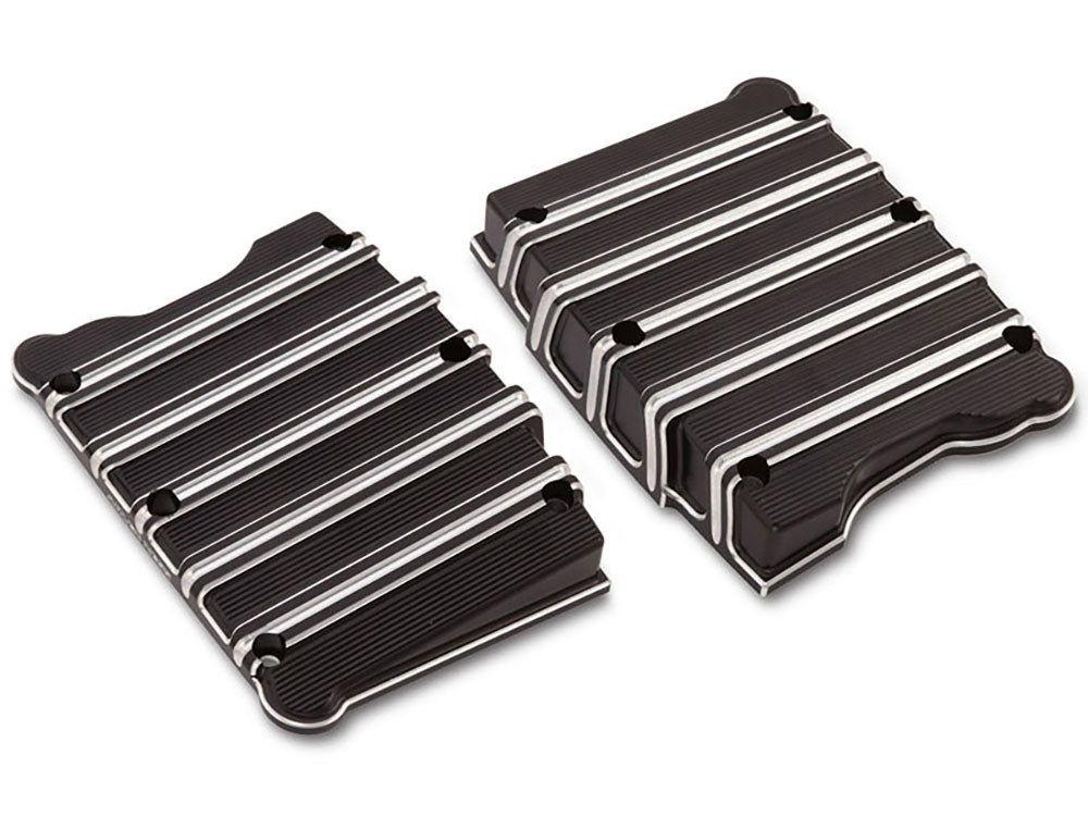 Rocker Covers; Big Twin'99up, 10-Gauge with Black Covers