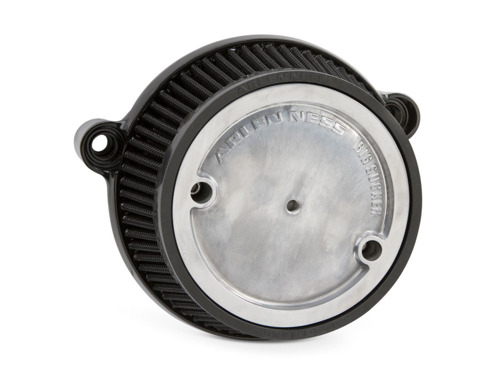 Hi Flow Air Filter Assembly; M8 2018up Models, Stage 1 Big Sucker with High Flow Element & Black backing plate.