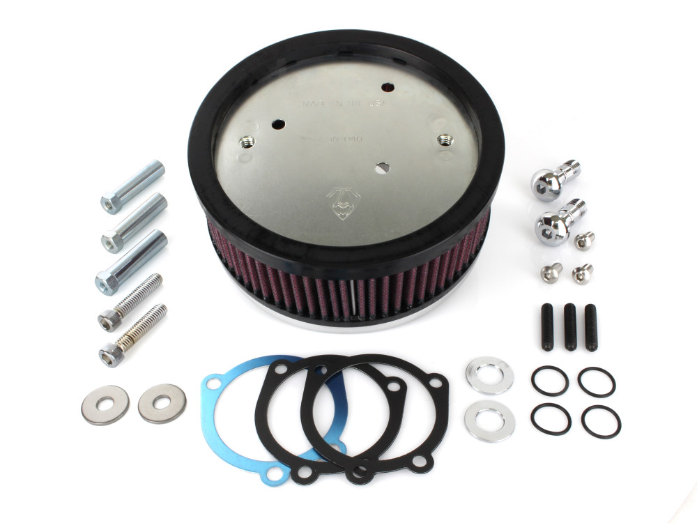 Air Filter Assembly; Sportster'88up. Stage 1 Big Sucker with High Flow Element & Natural Finish. Requires OEM Oval Cover.