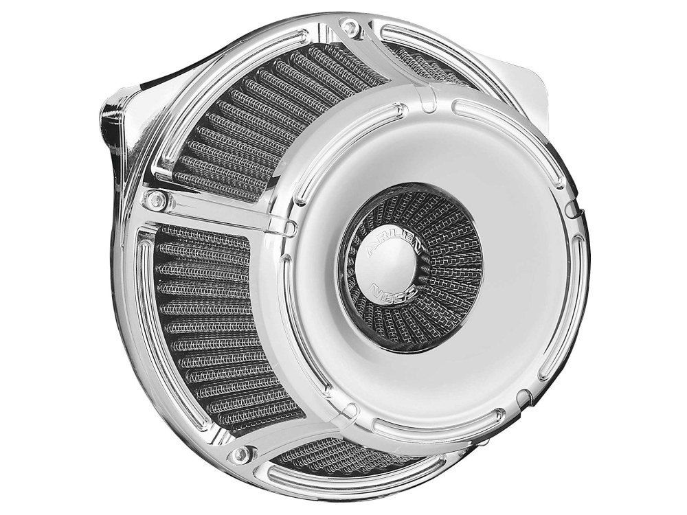 Slot Track Air Filter Assembly. M8 Touring 2017up & Softail 2018up. Chrome