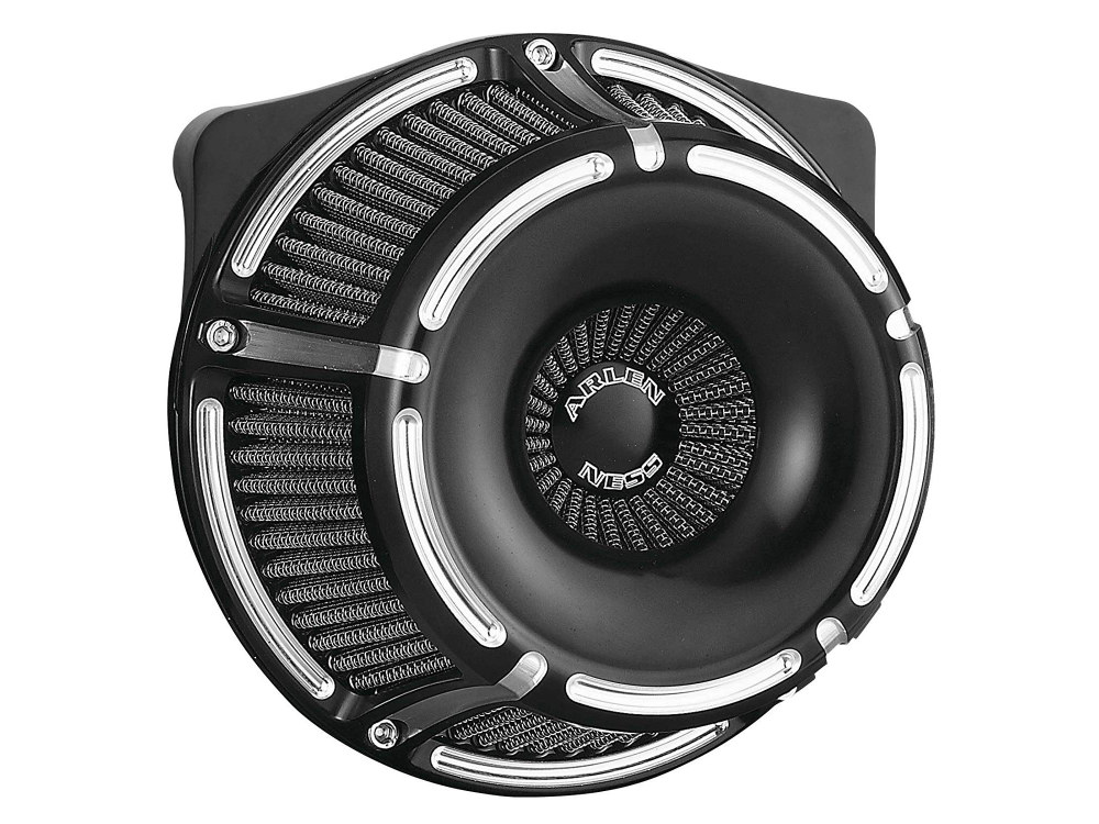 Slot Track Air Filter Assembly. M8 Touring 2017up & Softail 2018up. Black