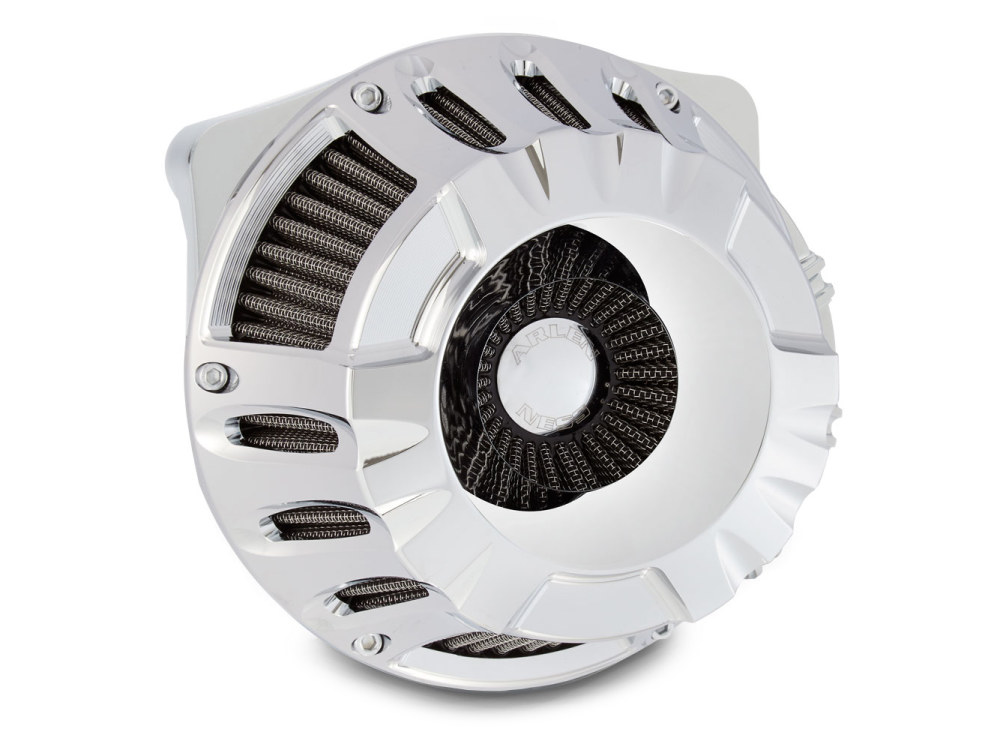 Deep Cut Air Filter Assembly. M8 Touring 2017up & Softail 2018up. Chrome