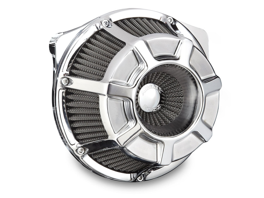 Beveled Air Filter Assembly. M8 Touring 2017up & Softail 2018up. Chrome