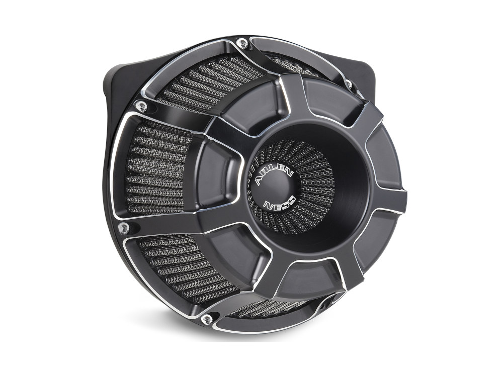 Air Filter Assembly; Tourer'08up. Beveled with High Flow Element & Black Finish.