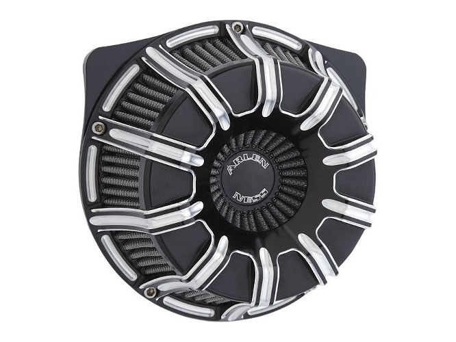 Air Filter Assembly; Twin Cam'99up. 10-Gauge with High Flow Element & Black Finish. Excludes Tourer'08up with TBW.