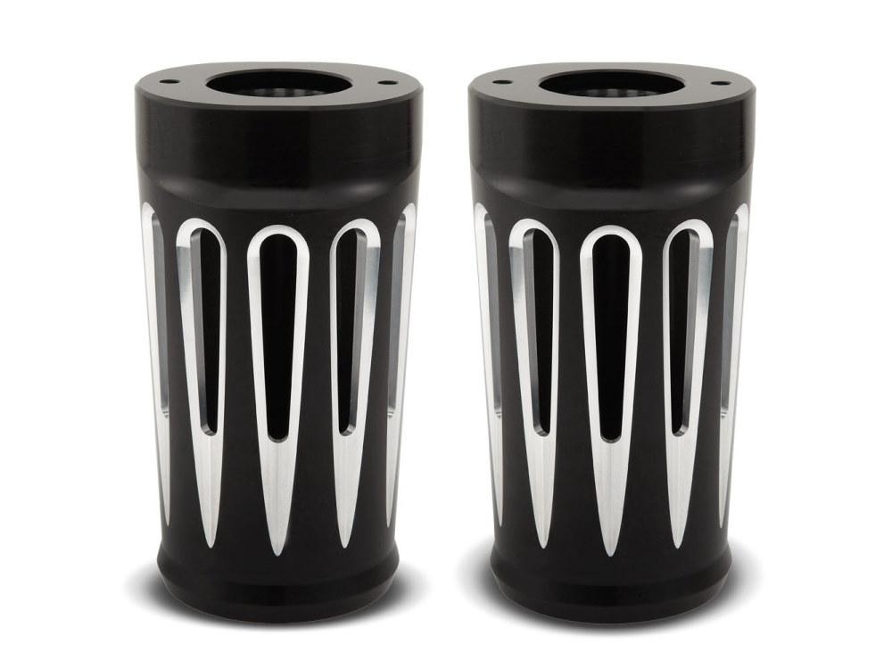 Fork Boots; Tourer'14up, 49mm Forks, Deep Cut with Black Finish