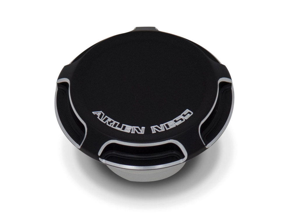 Fuel Cap; All'97up, Non-Vented, Beveled with Black Finish