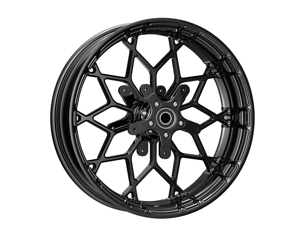 18in. x 5.5in. Fat Factory Forged Prodigy Replica Wheel, FLH 2008up – Gloss Black.