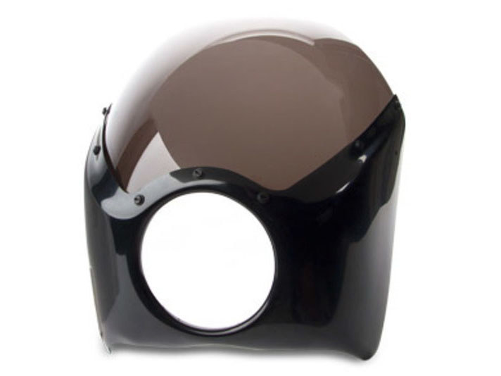 Fairing with Black Finish. Fits Indian Scout.