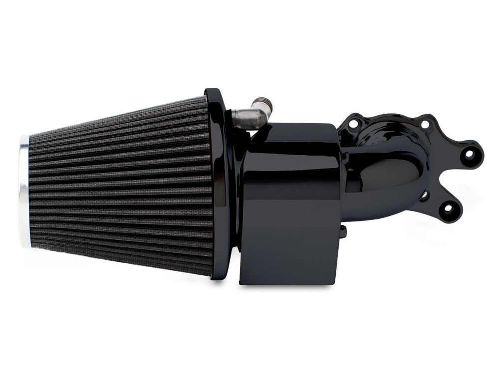 Air Filter Assembly; Indian Chief. 90deg with High Flow Element & Black Finish.
