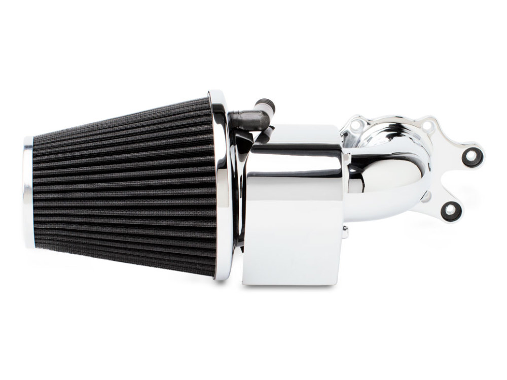 Air Filter Assembly; Indian Chief. 90deg with High Flow Element & Chrome Finish.