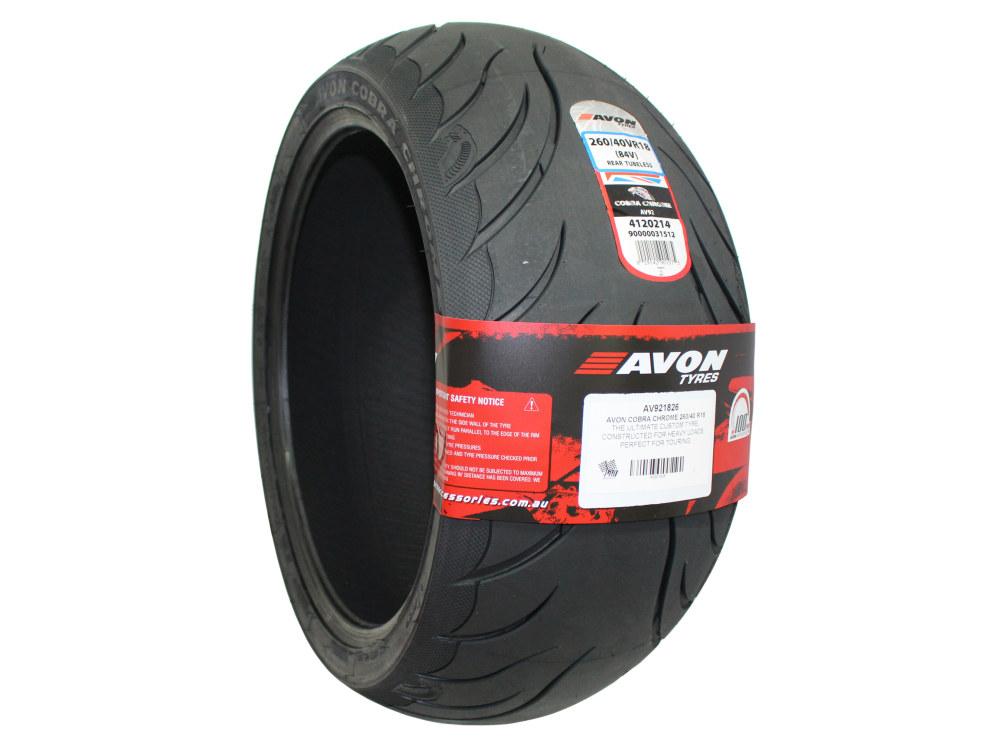 Avon Cobra Chrome 18in. Rear Tyre. 260/40-R18 AV92.