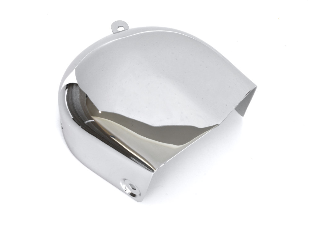 Horn Cover – Chrome. Fits Big Twin 1976-1990 & Sportster 1976-1985.