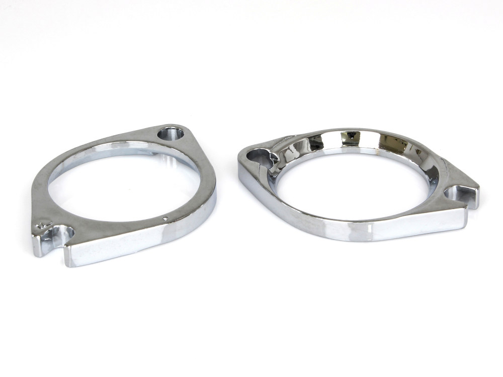 Intake Manifold Flanges; Big Twin 1990-05 & Sportster 1986-03 Chrome