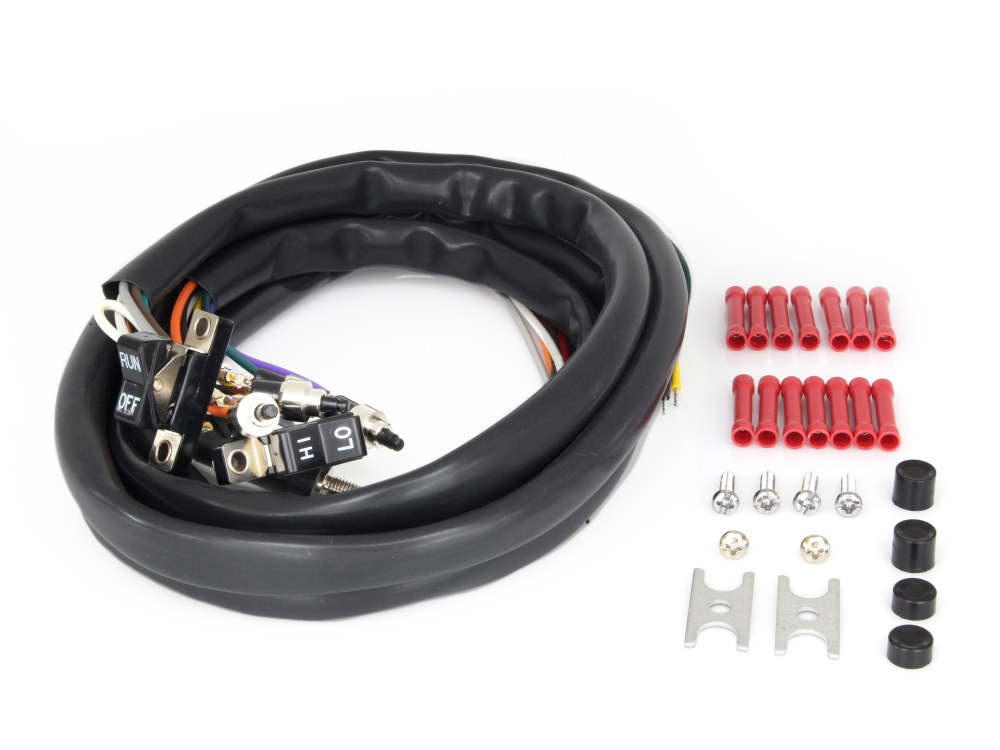 Rollies Speed Shop Handlebar Wiring Harness With Black