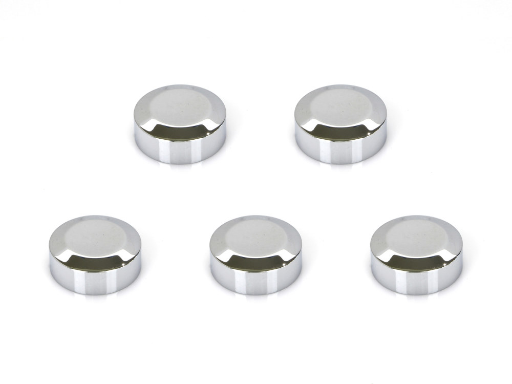 Rear Pulley Bolt Covers; Chrome