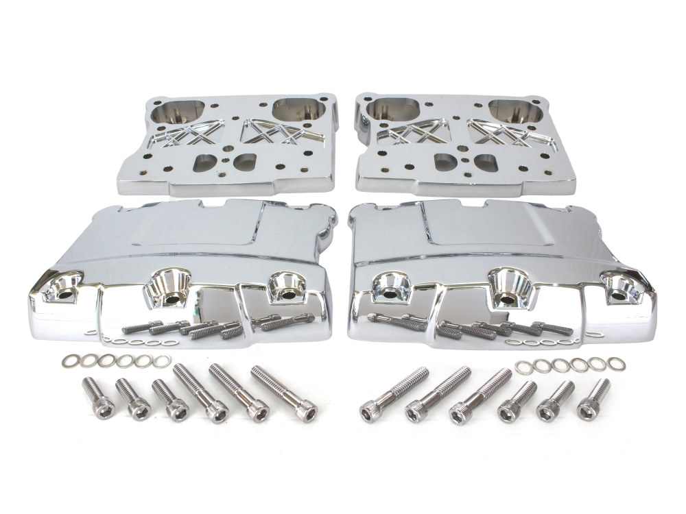 Rocker Cover Set; Twin Cam 1999-17 Chrome