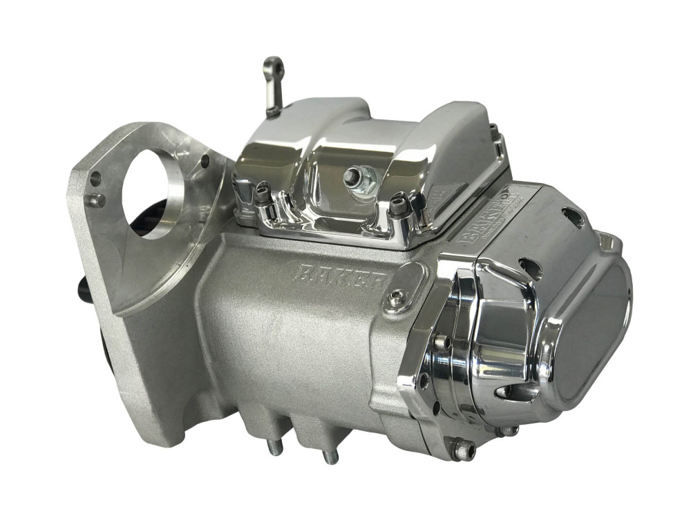DD5, Direct Drive 5 Speed Transmission Assembly with Natural Finish. Fits Softail 1990-1999.