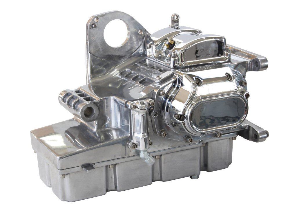DD6, Direct Drive 6 Speed Transmission Assembly with Polished Finish & 2.94 1st Gear Ratio. Fits Touring 2002-2006.