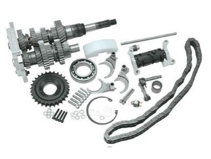 DD6, Direct Drive 6 Speed Builders Kit. Transmission Cassette with 2.94 1st Gear Ratio. Fits Softail 1990-1997 & Dyna 1991-1997.