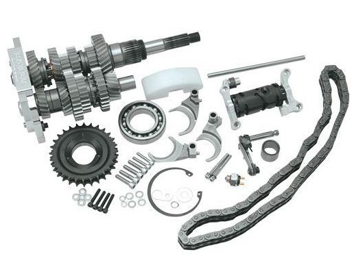 DD6, Direct Drive 6 Speed Builders Kit. Transmission Cassette with 2.94 1st Gear Ratio. Fits Softail 2000-2006 & Dyna 2001-2005.