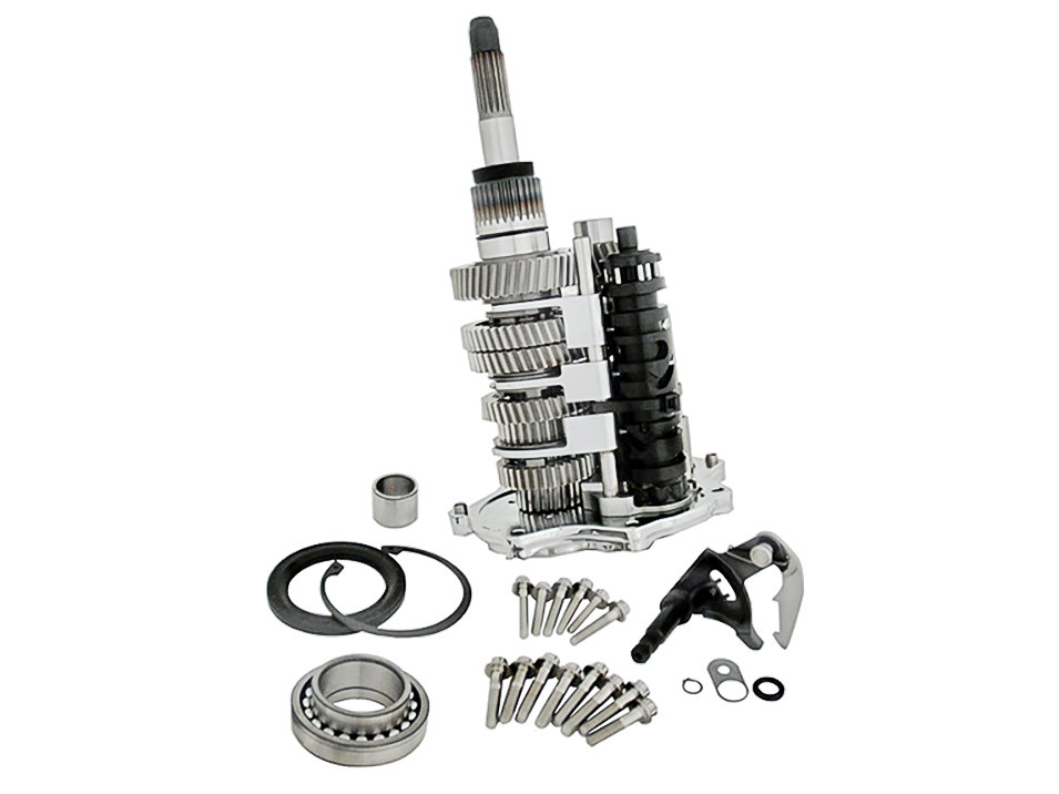 DD7, Direct Drive 7 Speed Builders Kit  Transmission Cassette with Chrome  Trap Door  Fits Dyna 2006-2017, Touring 2007-2016 & Softail 2007-2017