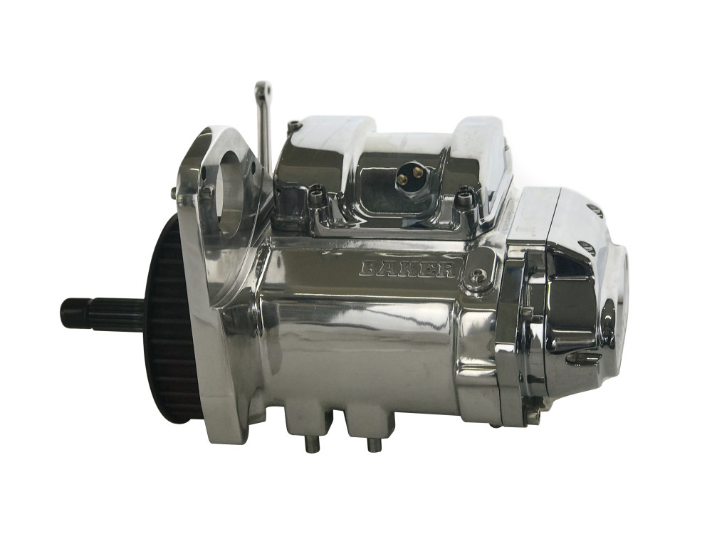 DD6, Direct Drive 6 Speed Transmission Assembly with Polished Finish & 2.94 1st Gear Ratio. Fits Softail 1990-1999.