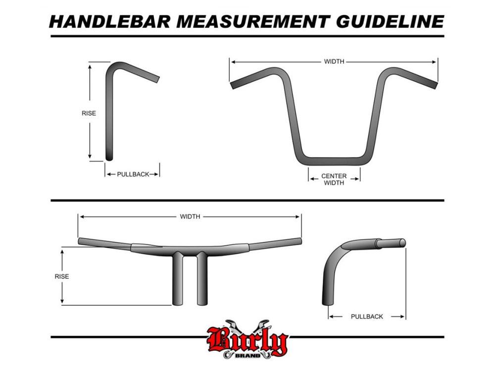 Burly Brand 12″ x 1-1/4″ Gorilla Ape Hanger Handlebar – Chrome  B28-350T    Rollies Speed Shop
