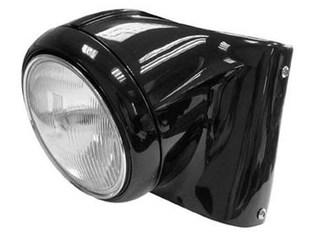 Headlight Conversion Kit with Black Finish. Fits Softail 1986-2006.