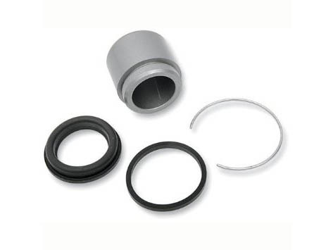 Front Caliper Rebuild Kit with Piston & Seals. Fits Big Twin & Sportster 1984-1999 Models.