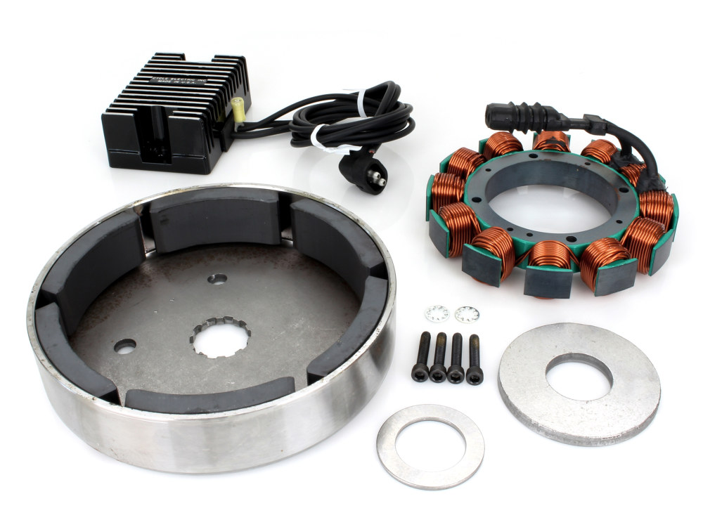 Alternator Kit with Low Volt Regulator. Fits Big Twin 1989-1999.