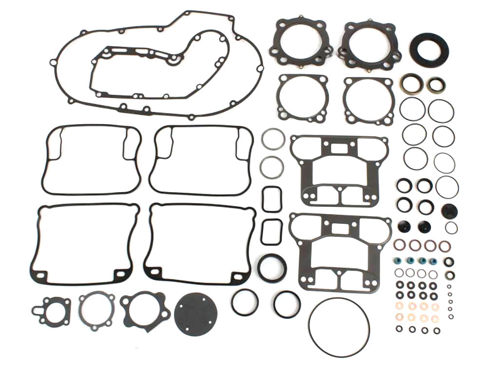 Engine Gasket Kit with Multi-Layer Steel (MLS) Head Gaskets. Fits Sportster 1991-2003 with 1200cc Engine.
