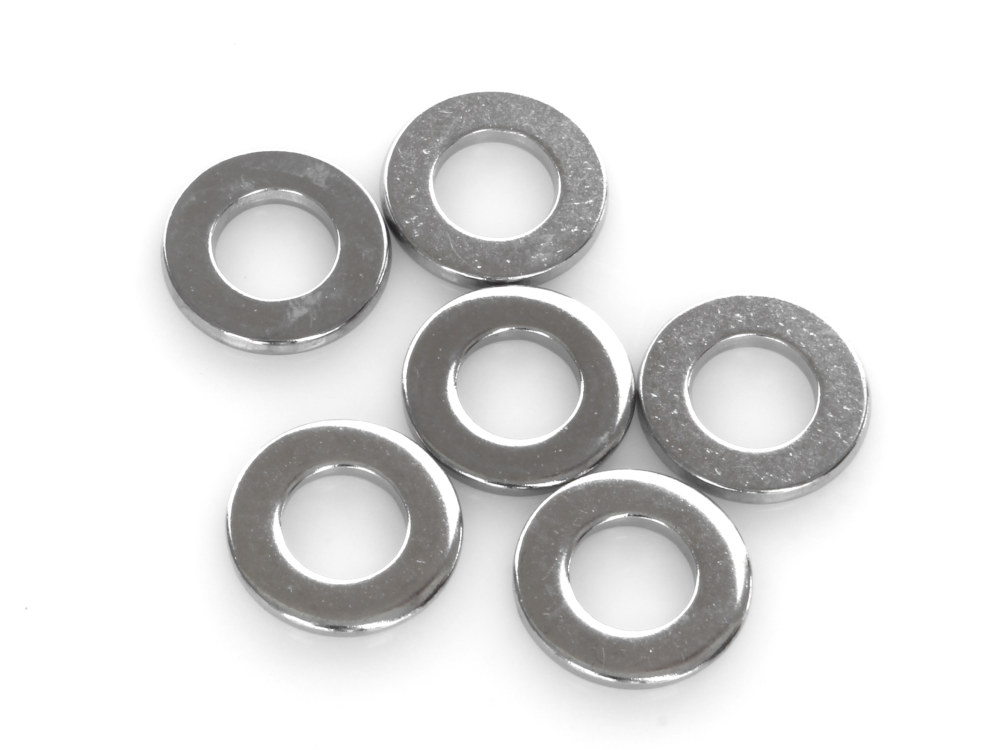 3/8in. Flat Washer – Chrome. Pack 6.