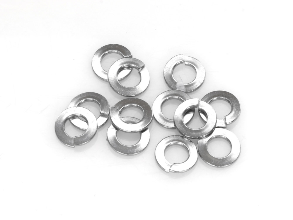 1/4in. Lock Washer – Chrome. Pack 12.