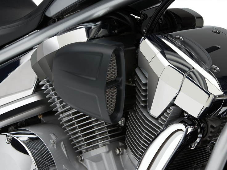 PowrFlo Air Intake System – Black. Fits Kawasaki Vulcan VN900 2006up.