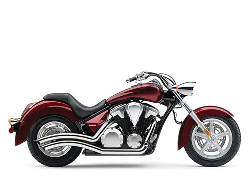 Speedster Swept Exhaust - Chrome. Fits Honda Fury, State-Line & Sabre 2010up.